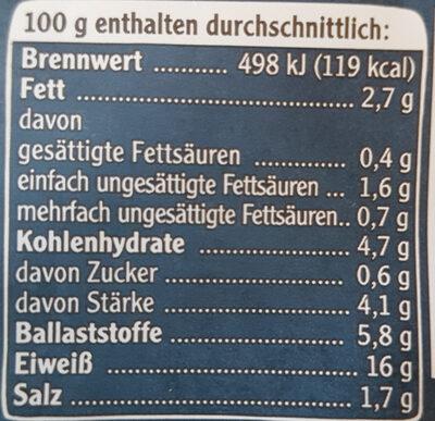 veganes Mühlen Steak Typ Rind - Nutrition facts - de