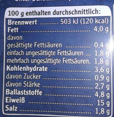 Veganes Mühlen Steak Typ Rind - Informations nutritionnelles - de