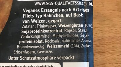 Veganes Mühlen Filet - Ingredienti - de