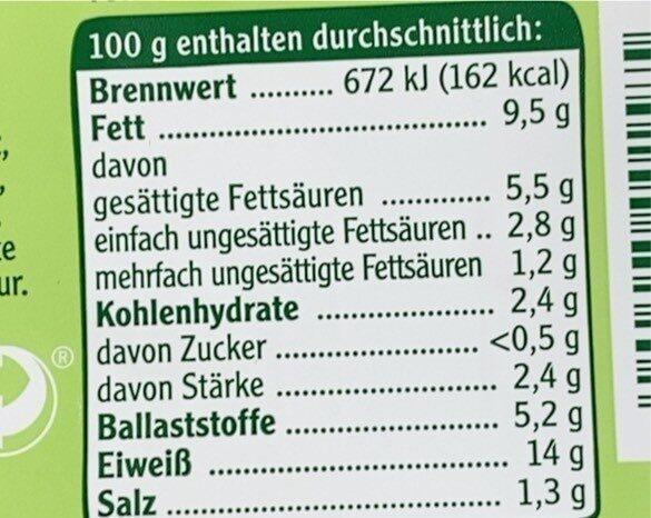Veganes Mühlen Hack - Informations nutritionnelles - de