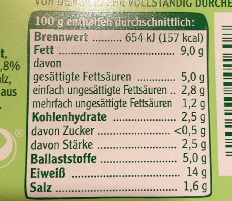Vegane Mühlen Griller - Nutrition facts - de