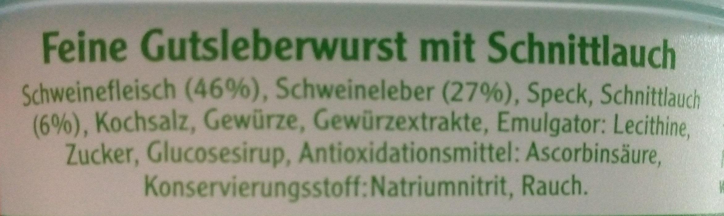 Leberwurst - Ingredients - fr
