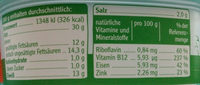 Leberwurst - Nutrition facts - fr