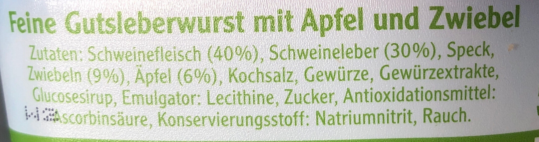Pommersche Apfel und Zwiebel - Ingredients - de