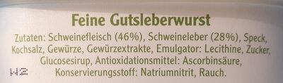 Pommersche Leberwurst - Ingrediënten