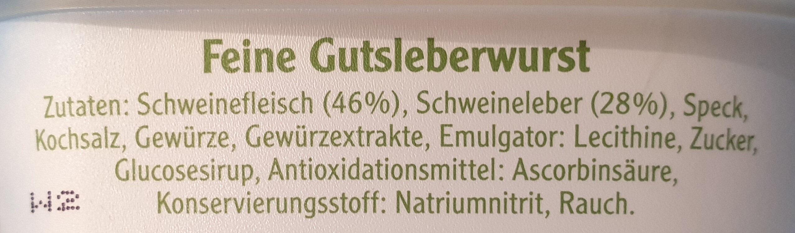 Pommersche Leberwurst - Zutaten - de