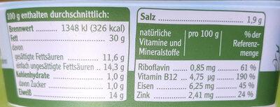 Pommersche Leberwurst - Nährwertangaben - de