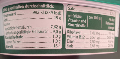 Pommersche Grobe Gutsleberwurst - Informations nutritionnelles - de