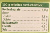 Vegane Pommersche Zwiebel - Nutrition facts - de