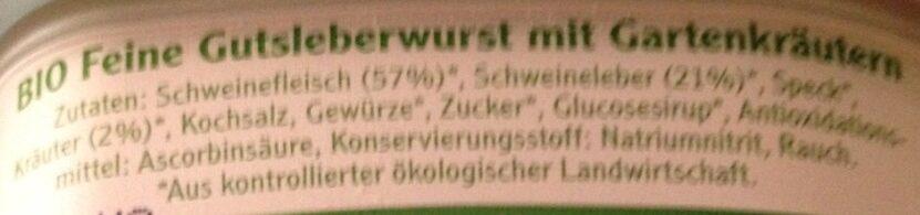 Bio Pommersche Gartenkräuter - Ingredients - de