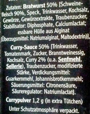 Currywurst - Ingredientes