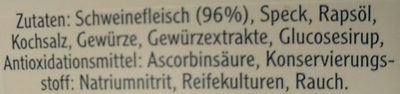 Grobe Teewurst - Ingredients - de