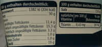 Grobe Teewurst - Nutrition facts - de