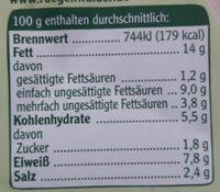 Rügenwalder Mühle Vegetarischer Schinken Spicker Schnittlauch - Nutrition facts