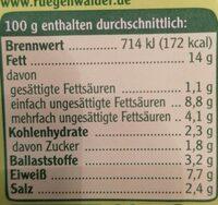 Rügenwalder Mühle Vegetarischer Schinken Spicker Schnittlauch - Nährwertangaben - de