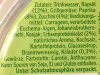 Veganer Schinken Spicker - Inhaltsstoffe