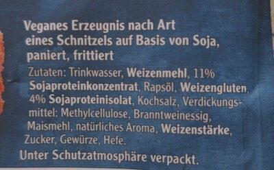 Vegetarische Mühlen Schnitzel Klassisch - Ingredienti - de