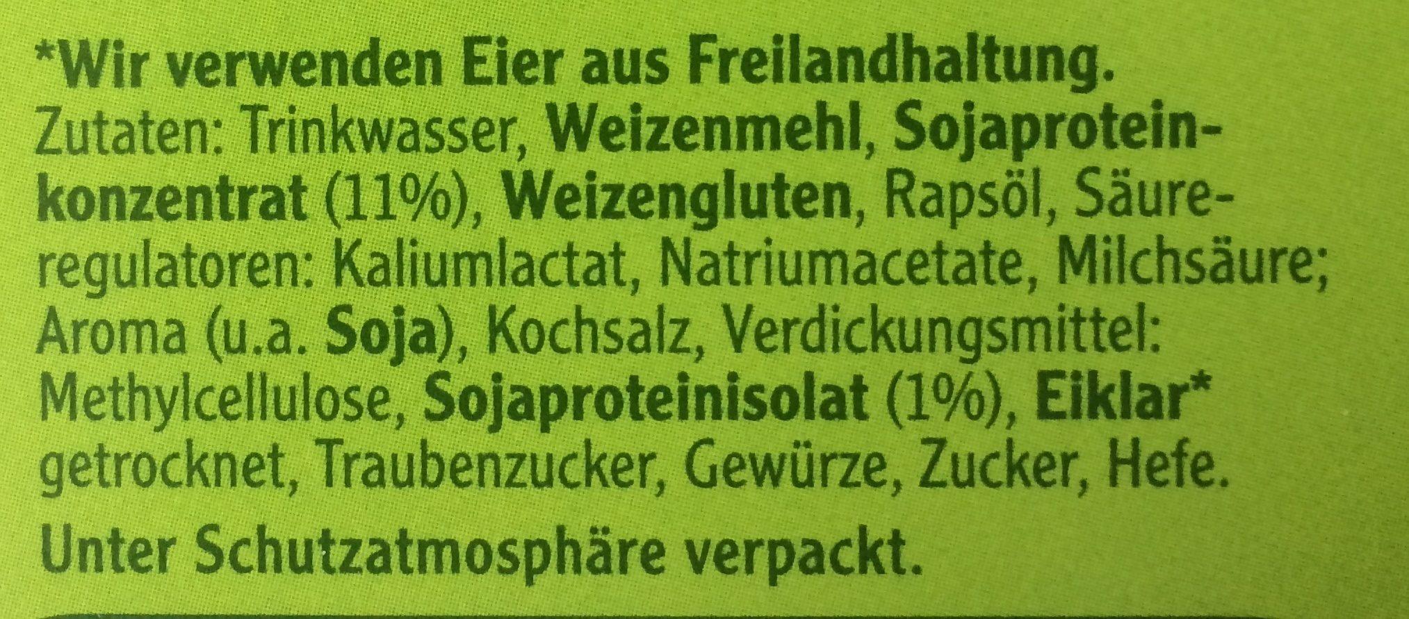 Vegetarische Mühlen Schnitzel Klassisch - Ingrédients - fr