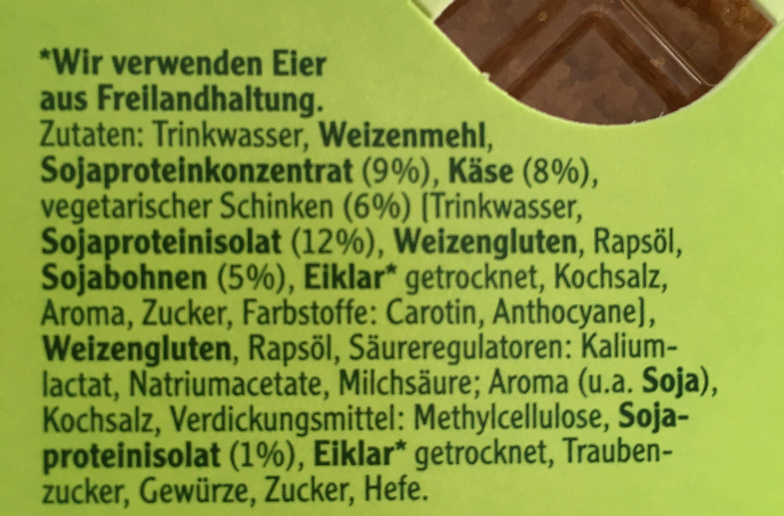 Vegetarische Mühlen Schnitzel Cordon Bleu - Ingrédients
