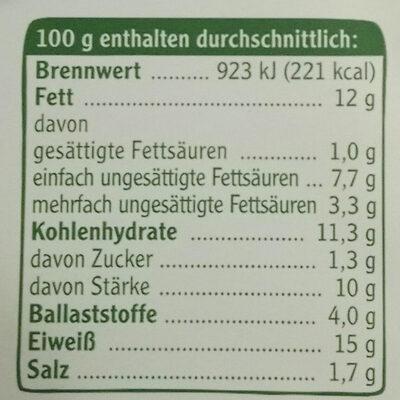 Vegetarische Mühlen Nuggets - Nutrition facts
