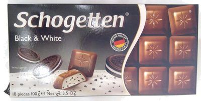 Chocolate Schogetten Black & White - Продукт