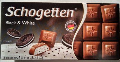 Chocolate Schogetten Black &white - Produkt - sr