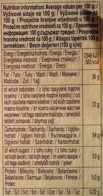 Chocolate Schogetten Black &white - Пищевая и энергетическая ценность