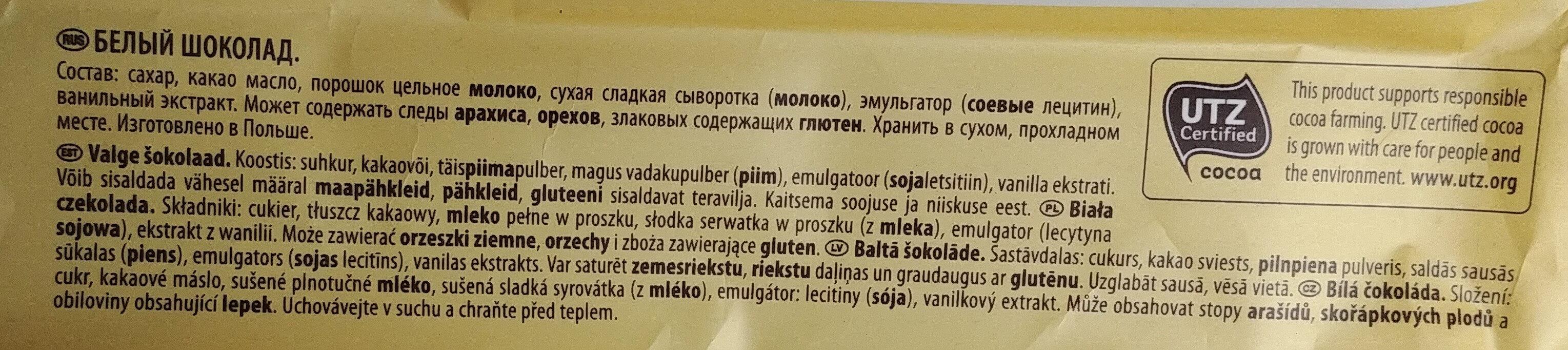 Biała czekolada - Ингредиенты - pl