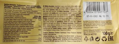 Biała czekolada - Informação nutricional - pl