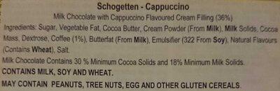 Cappuccino - Ingredients - en