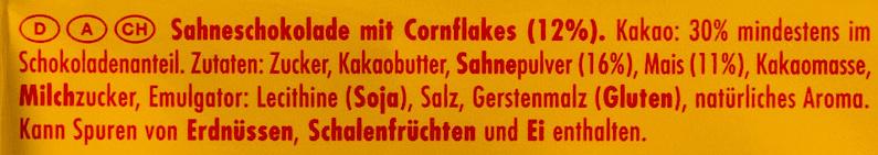 Corn flakes - Ingredients