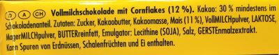 Ritter Sport Knusperflakes - Ingredients - de