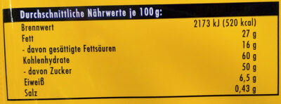 Ritter Sport Knusperflakes - Nutrition facts - de