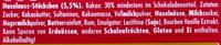 Ritter Sport Rum Trauben Nuss - Inhaltsstoffe