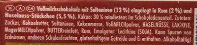 Rum Trauben Nuss - Ingredients - de