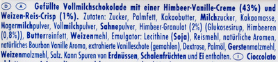 Ritter Sport Himbeer Vanille - Ingredients