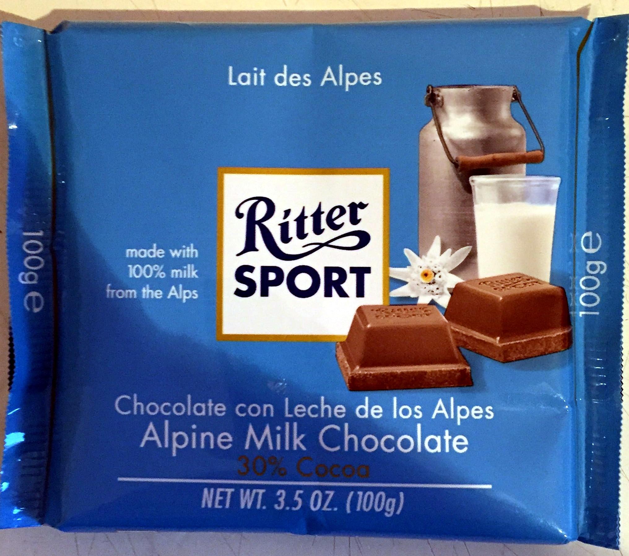 Ritter Sport Chocolat supérieur au lait des Alpes - Product