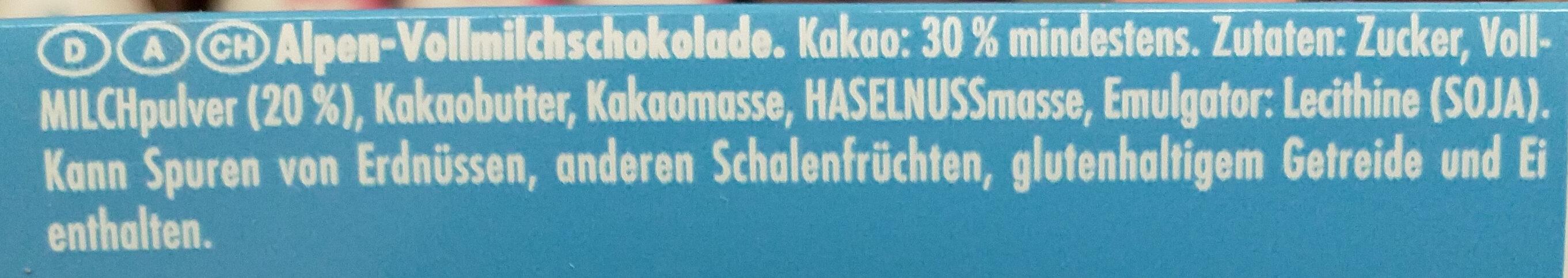 Alpenmilch - Ingredients - de