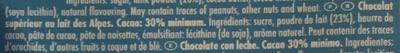 Ritter Sport Chocolat supérieur au lait des Alpes - Ingredients