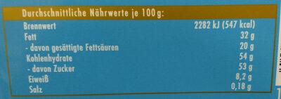 Alpenmilch - Nutrition facts - de