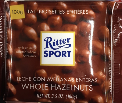 Ritter Sport Lait Noisettes Entières - Product - fr