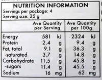 Whole Almonds - Nutrition facts - en