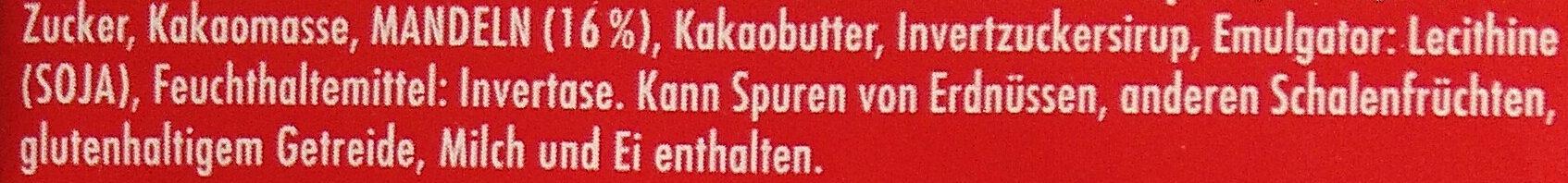 Ritters Sport Marzipan - Zutaten - de