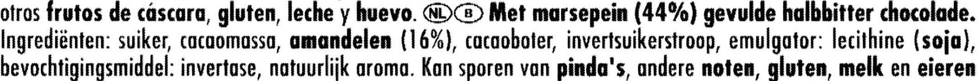 Marzipan - Ingrediënten - nl