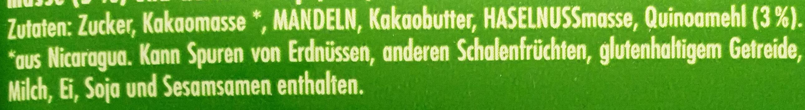 Mandel Quinoa 50% Kakao - Ingredients - de