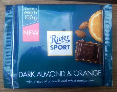 Ritter Sport Dark Almond Orange 100 G