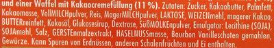 Vollmilchschokolade Waffel - Zutaten - de