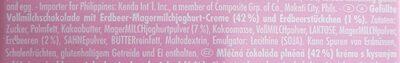Chocolat Stawberry Yogurt - Ingredientes - de