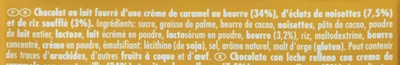 Ritter Sport Caramel noisettes - Ingredients