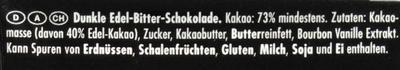 Ritter Sport Edel-Bitter - Ингредиенты